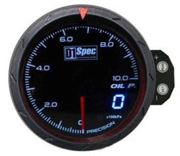 Zegar D1Spec 60mm - Oil Pressure - GRUBYGARAGE - Sklep Tuningowy